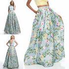 Women Summer  Boho Floral Long Maxi Skirt Dress Party Evenin