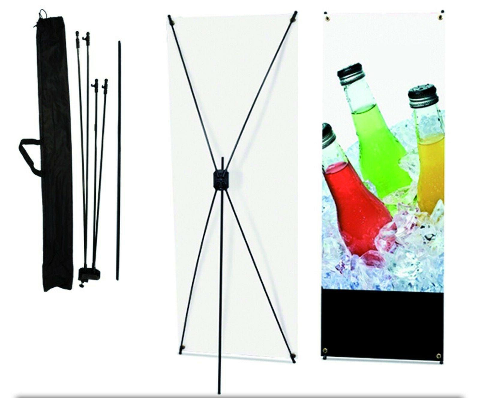 """X Banner Display Stand 24"""" wide 63"""" tall + travel bag"""