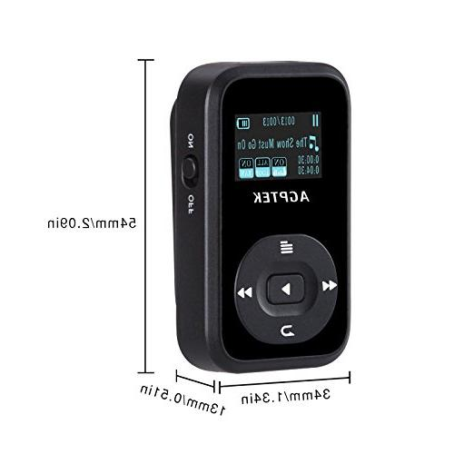 AGPTEK A26 8GB MP3 Player, Hi-Fi Sound Music Player with FM Inch Silicone