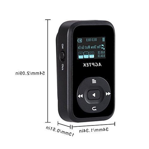 AGPTEK A26 8GB MP3 Player, Hi-Fi Sound Music Player with FM Inch Silicone