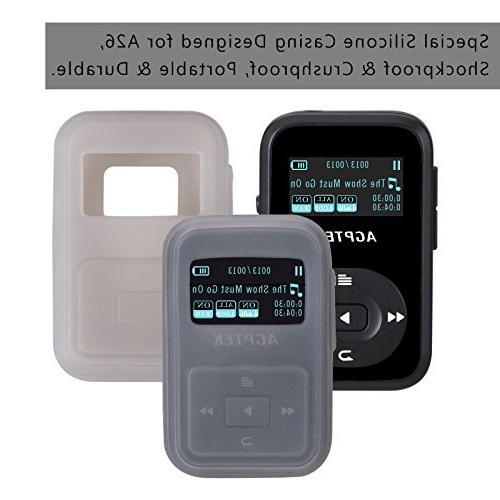 AGPTEK 8GB MP3 Player, Hi-Fi Silicone up to 64GB, Black