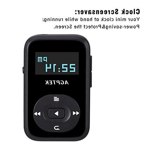 AGPTEK A26 MP3 Hi-Fi Sound Music Player with FM Radio, 1.1 Inch Silicone Case, Support up to 64GB,