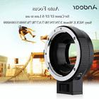 Andoer Auto Focus AF TTL Lens Adapter Ring for Canon EOS EF