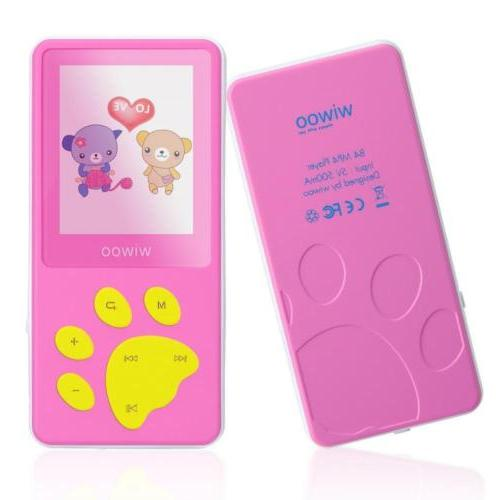 wiwoo B4 8GB Portable Cute Cartoon MP3 Player For Kids With