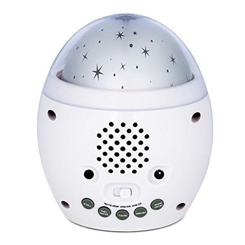 Babbleboo Baby Lamp & Bedroom Alarm Star Projector With Nature Sounds & Womb Simulation Children & - 7