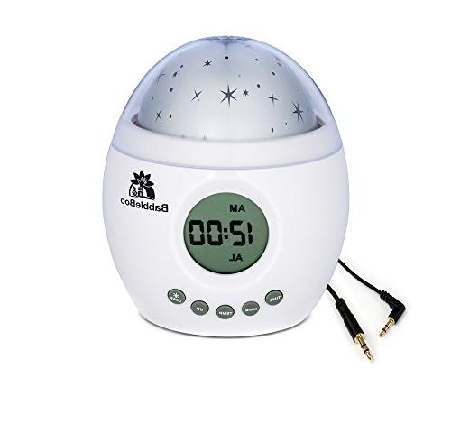 Babbleboo Night Light Lamp & Alarm Clock Star With Nature & Womb Simulation Feature Children 7 Sounds