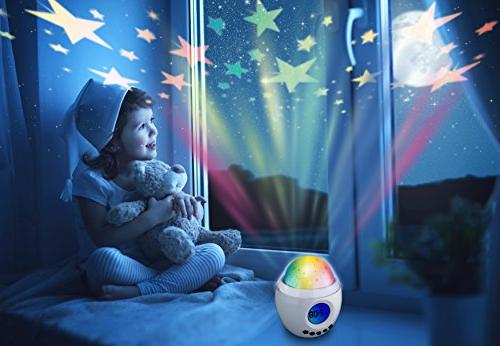 Babbleboo Baby Night Light Lamp Alarm Clock Star With Nursery Nature & Soothing Womb Children 7 Sounds