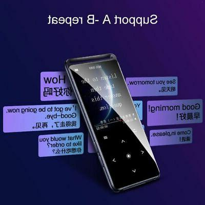 Bluetooth 5.0 MP3 Player HiFi FM Radio Voice Recorder US