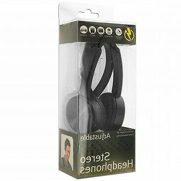 Black Headphones use with players,