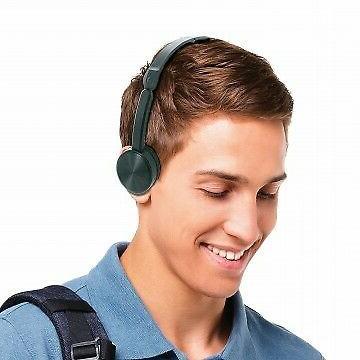black adjustable stereo headphones use with smartphones