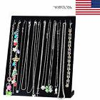 Black Jewelry Velvet Necklace Chain Display Storage Holder S