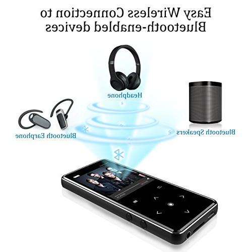 16G Bluetooth Player,Valoin Inch Screen Music with Recorder Music