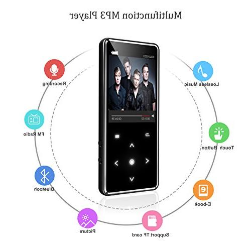 16G Bluetooth MP3 Player,Valoin Slim Inch Screen Recorder Lossless Player with