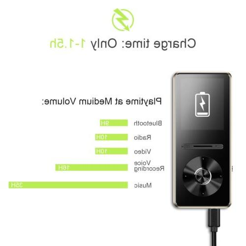AGPTEK Bluetooth 4.0 Hi FM Radio, 8 GB