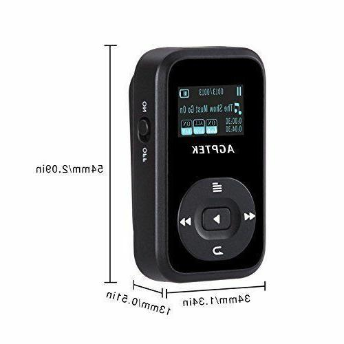 AGPTEK 8GB MP3 Music Player with Expandable up to A26