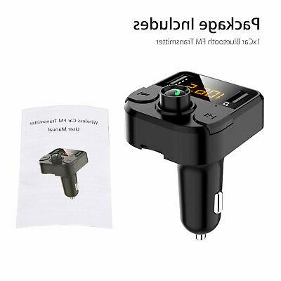 Bluetooth Car FM MP3 Hands free Radio Kit Charger