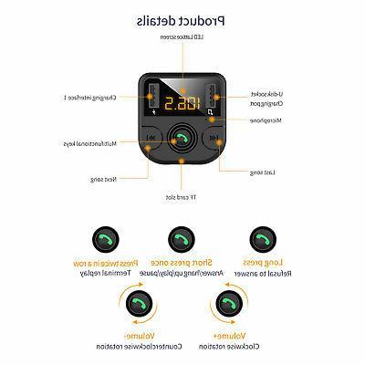 Bluetooth MP3 free Radio USB Charger