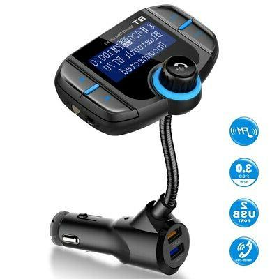 Car Dual USB MP3 Player Charger Bluetooth FM Transmitter Wir