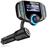 Bluetooth FM Transmitter,Wireless In-car Radio Adapter Hands