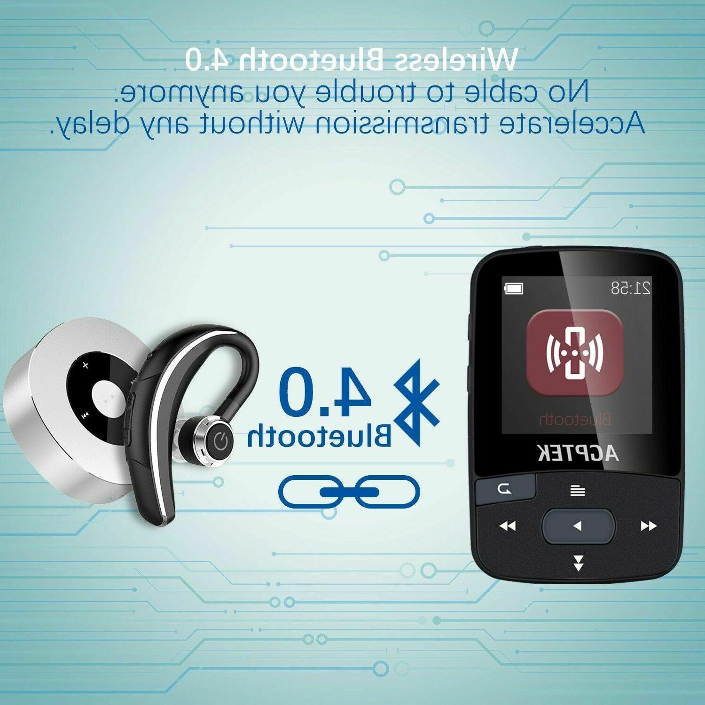 Agptek Bluetooth 16gb With FM Voice Recorder