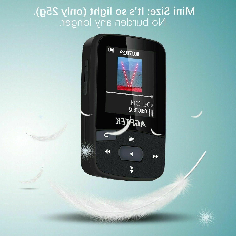 Agptek Bluetooth 16gb Clip FM Recorder