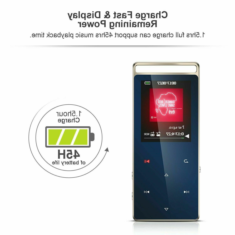 AGPTEK Bluetooth Player 8GB Lossless FM/ Voice