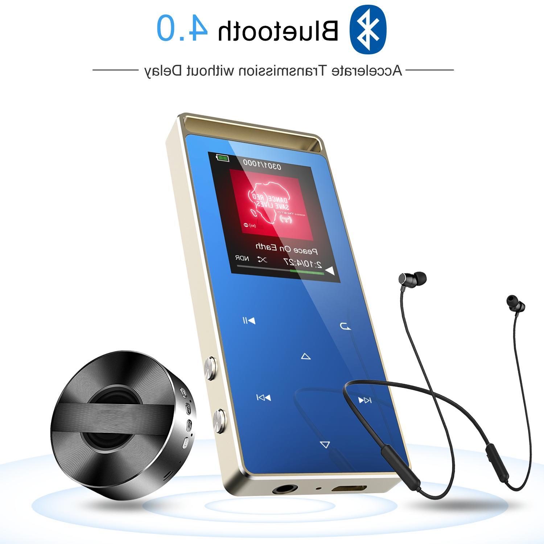 AGPTEK Bluetooth MP3 Player 8GB Voice