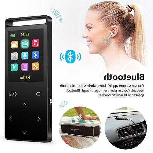 16GB MP3 with FM 60 Sound,Metal 1.8 Inch Sound Quality Earphone, with an Armband, Black Bluetooth