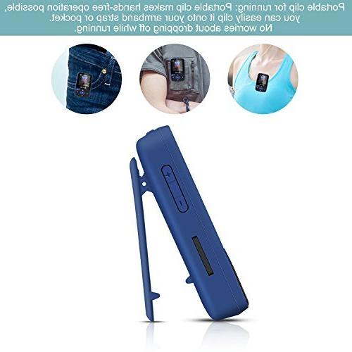 Bluetooth MP3 Player with A50 Music Player & Recorder, Slot up to 64GB Sport