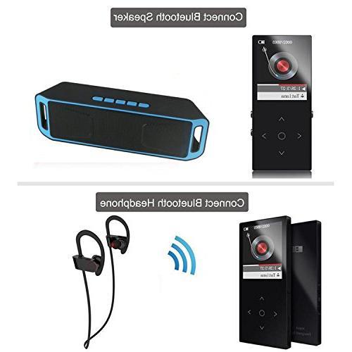 HONGYU Bluetooth mp3 Touch Ultra thin 8GB HiFi Music ,1.8 TFT Lossless Radio Audio -Black