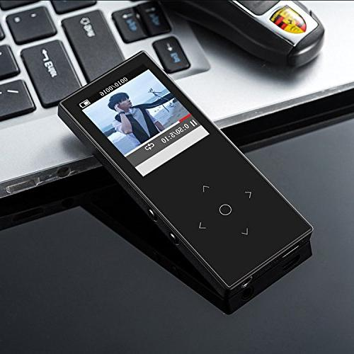 HONGYU Touch 8GB HiFi Player ,1.8 Lossless Sound with FM Radio and Voice Audio for -Black
