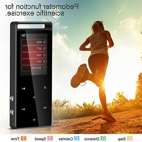 AGPTEK Player FM/Voice Recorder, Lossless Metal Independent Lock, 1.8 TFT Screen,