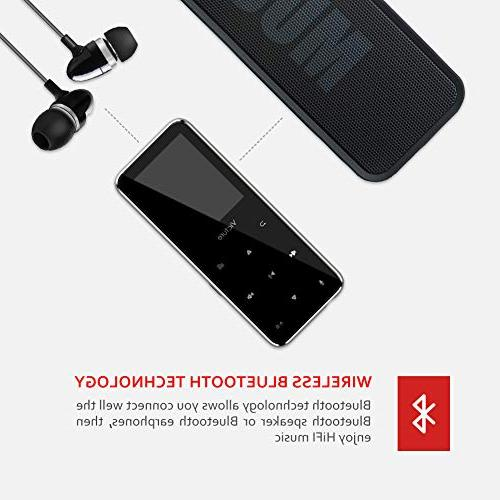 Victure Bluetooth 8GB Touch Music Earphones, Built-in Speaker, Radio, Sound Support up 64GB