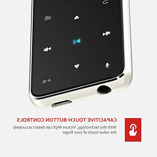 Victure Player 8GB Touch Button Music Wired Earphones, Built-in Radio, Lossless Sound Quality, Case, Support 64GB