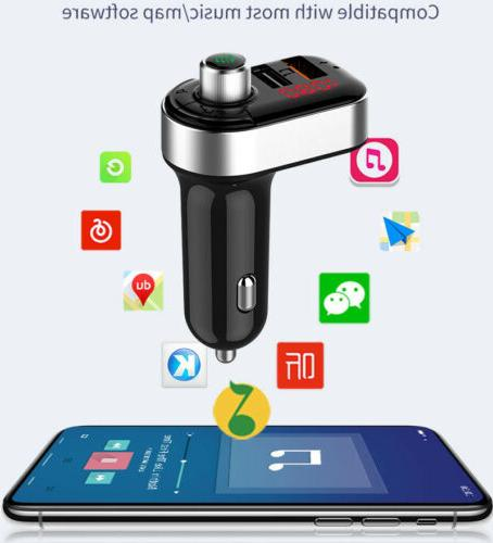2 USB Port Car Charger FM Transmitter MP3 Player Bluetooth W