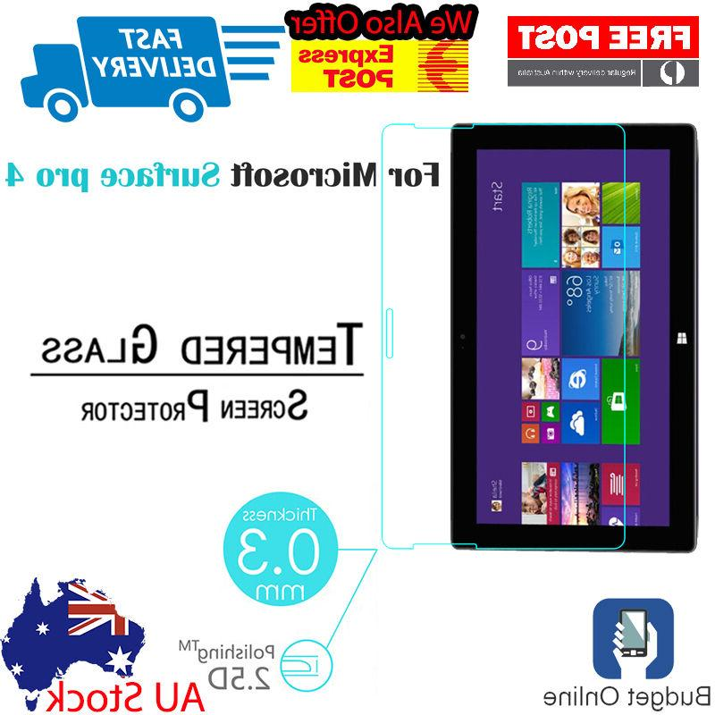 Brand New Tempered Glass For Microsoft Surface Pro 4 Tablet