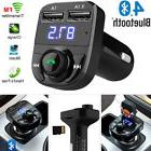 Wireless Bluetooth Handsfree Car Kit FM Transmitter MP3 Play