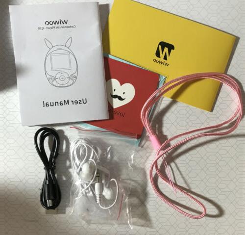 Wiwoo Cartoon MP3 Player Pink 8GB Bluetooth NEW box See Pics!