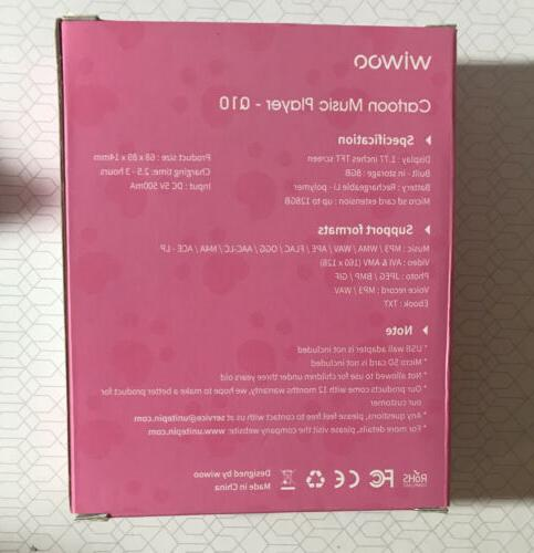 Wiwoo Cartoon Music 8GB Bluetooth in box