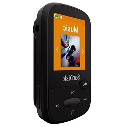 SanDisk MP3 Player, Black LCD Screen Card Slot