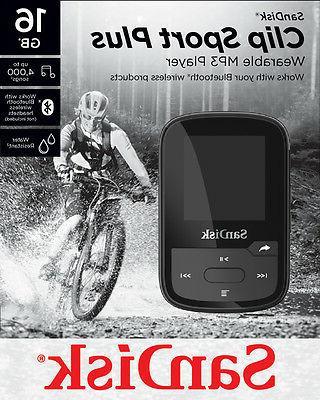 SanDisk Clip Sport 16GB Wireless Bluetooth MP3 Music