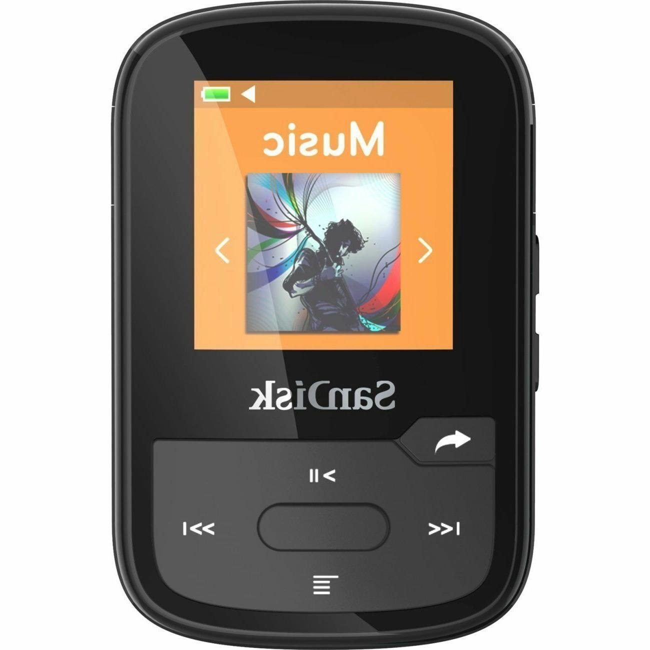 SanDisk SDMX28-016G-A46K ClipSport MP3 Player - Black