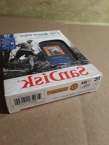SanDisk Clip Plus Player Blue Brand
