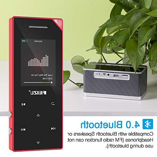 with Bluetooth, Music with FM Radio, Built-in Speaker, Expandable Red