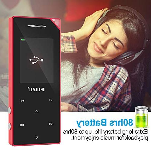 RUIZU Mp3 with Music with Speaker, Heavy Touch Button, 80hrs Playback, Expandable