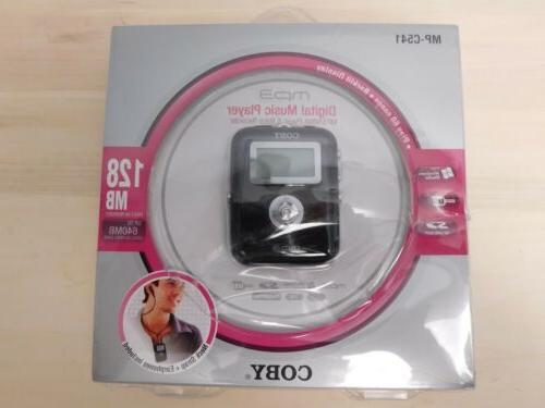 Coby Electronics MP3 Audio Player 128MB MP-C541 New & Sealed