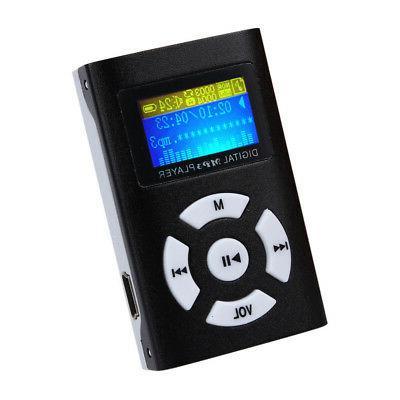 Mini MP3 Player LCD Screen Support 32GB Micro SD TF Card USB
