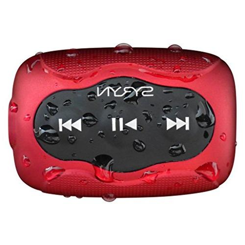Swimbuds Fit Waterproof Headphones and 8 SYRYN Waterproof MP3 Player with Shuffle Feature