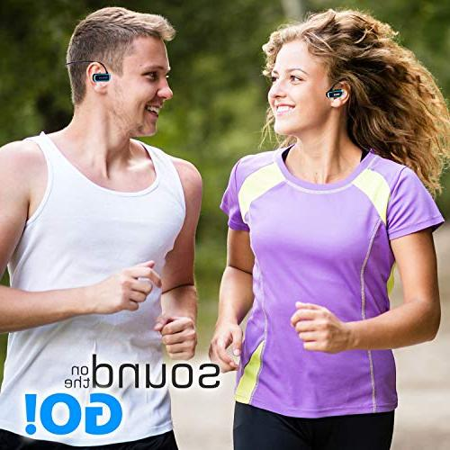 Pyle MP3 Player V2 Sports Wearable Player Underwater Jogging Earphones Flexible Headphones USB Connection9 - PSWP29BTBK