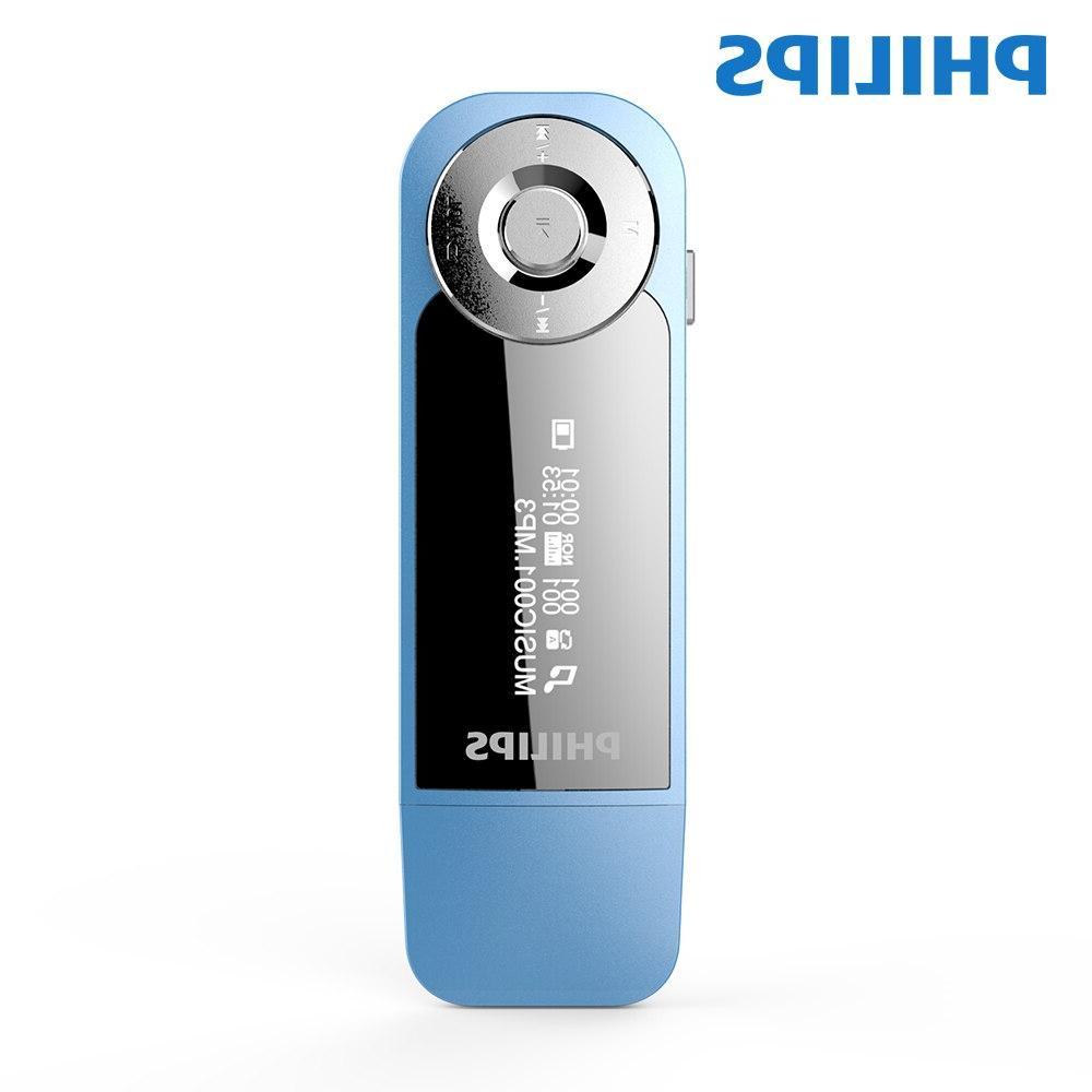 <font><b>Philips</b></font> 8GB Mini Clip Music Screen Mini <font><b>Mp3</b></font> FM Radio